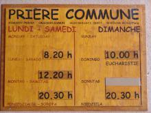 Gottesdienstzeiten in Taizé