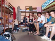 Einblick in eine Baracke von Taizé