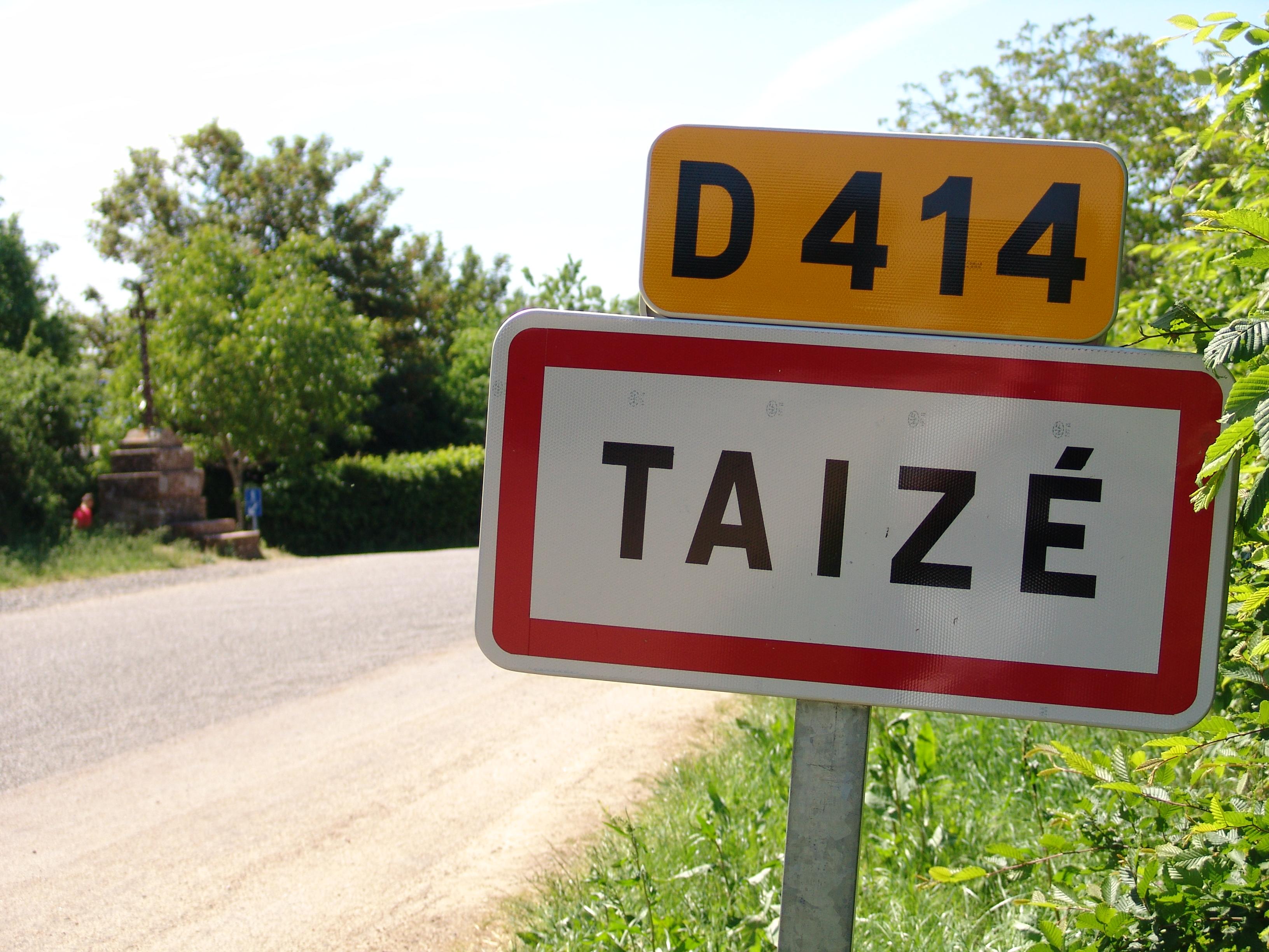 Ortsschild von Taizé